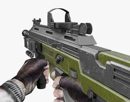 Slayer Assault Rifle  3D Model