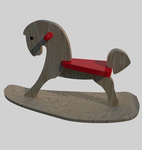 Wooden Rocking Toy Horse3D model