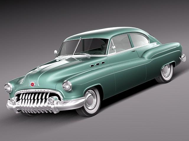 Buick Sedanette 1950 3d Model Obj 3ds Fbx C4d Lwo Lw