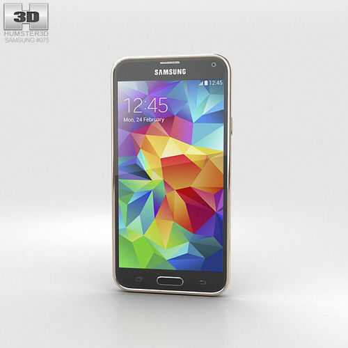 Samsung Galaxy S5 Gold3D model