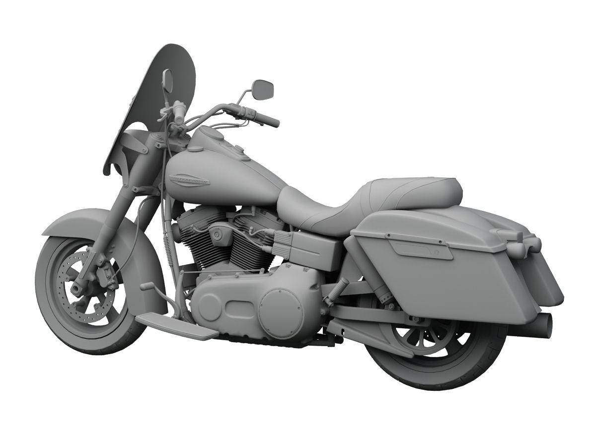 Harley Davidson Fld Dyna Switchback 2017 Model Max Obj Mtl S Fbx C4d Dxf