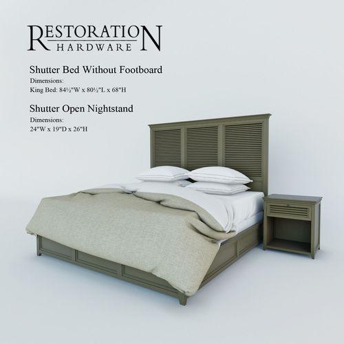 shutter bed restoration hardware 1