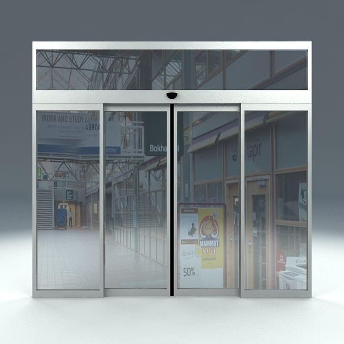 Automatic sliding door free 3d model max obj 3ds fbx ma mb for Automatic sliding door
