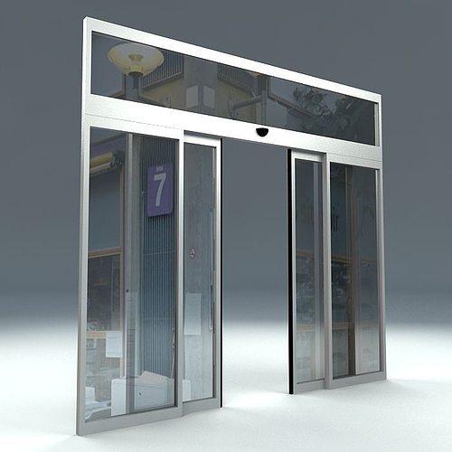 Automatic sliding door 3d model cgtrader for Door 3d model