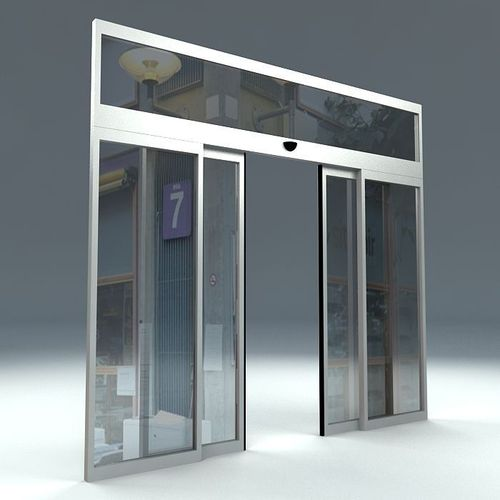 Automatic Sliding Door Free 3d Model Max Obj 3ds Fbx Ma Mb