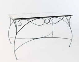 3D Forged dinner table