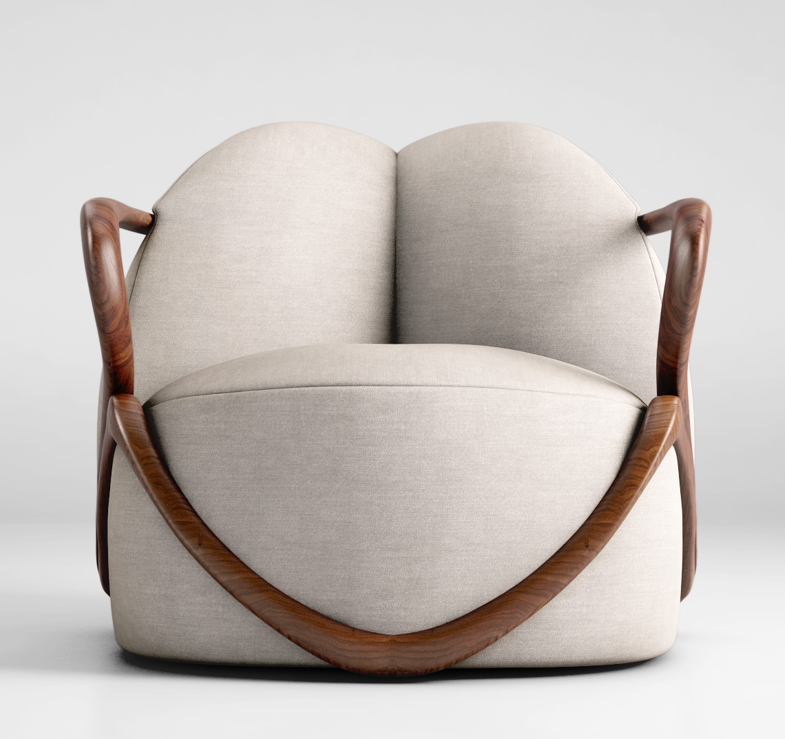 Giorgetti hug armchair 3d model max obj for Model furniture