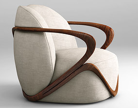 Giorgetti Hug armchair 3D