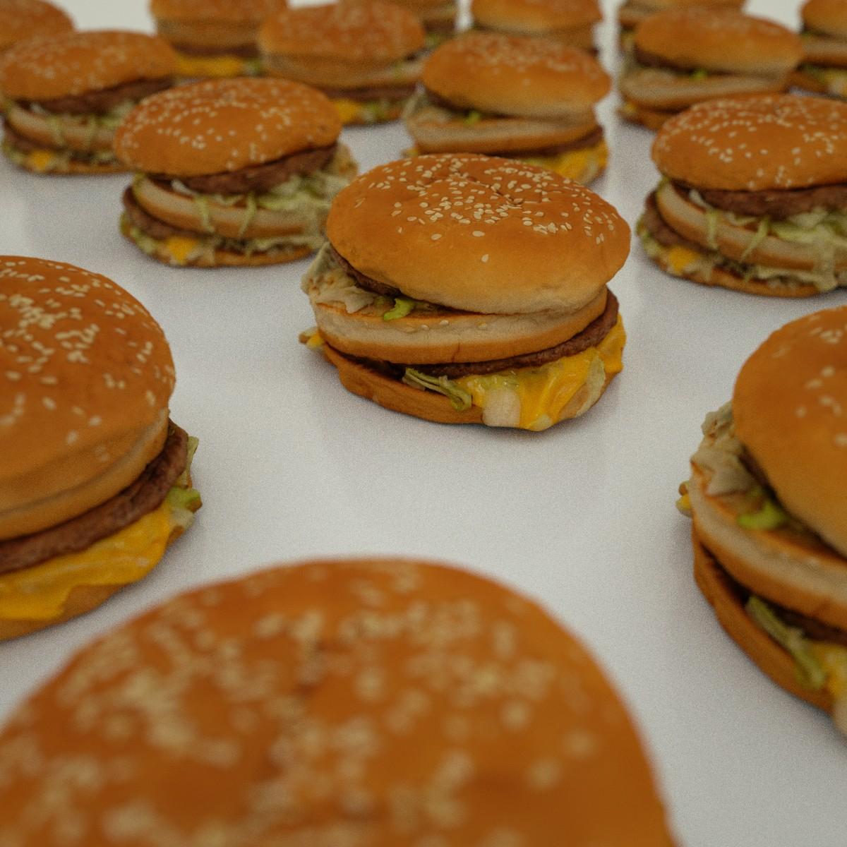 Hamburger 3D Model Game Ready .obj
