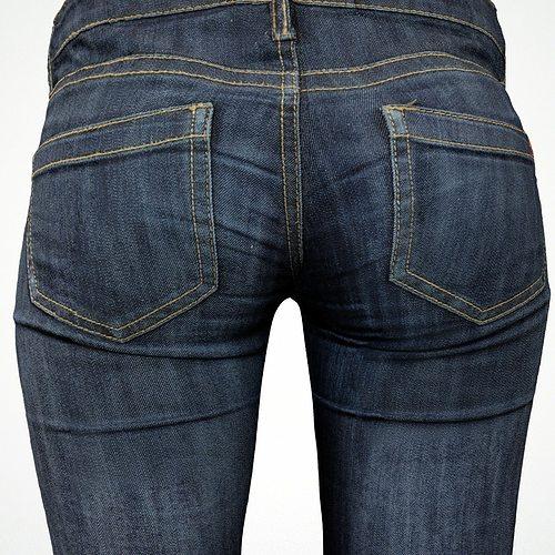 jeans 3d model obj mtl fbx 1