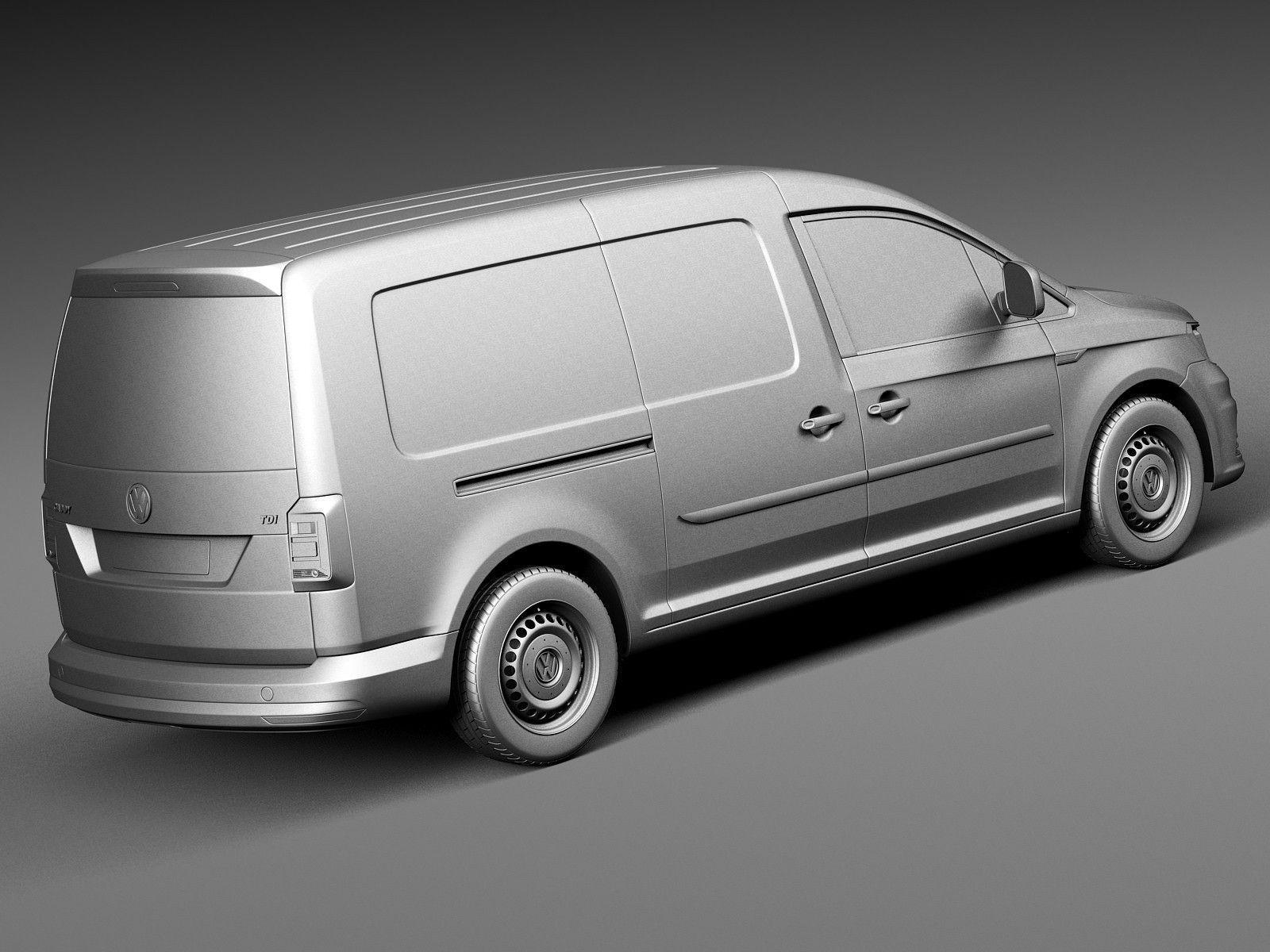volkswagen caddy maxi van 2016 3d model max obj 3ds fbx c4d lwo lw lws. Black Bedroom Furniture Sets. Home Design Ideas