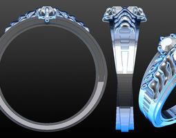 Simons engagement ring 3D Model