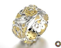 3D printable model Fashion wedding ring set 0118