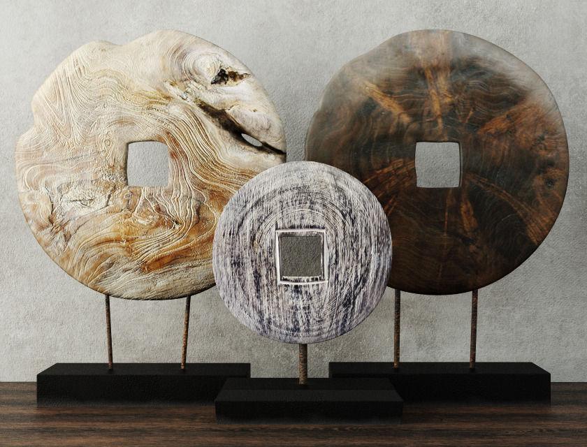 Albesia And Teak Wood Table Top Decoration 3d Model Max Fbx 1 ...
