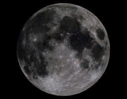 3d model moon 4k game-ready