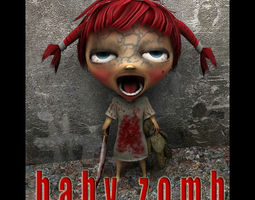 3D model Baby Zombie for Unity