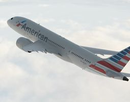 Boeing 787 Dreamliner American Airlines 3D Model