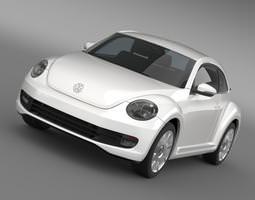 vw i beetle 2015 3d model