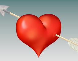 Heart and Arrow 3D Model
