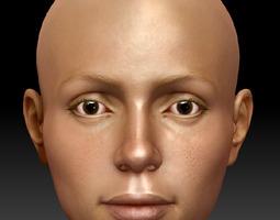Nesa 7 5 Head Nude Female Model 3D Model