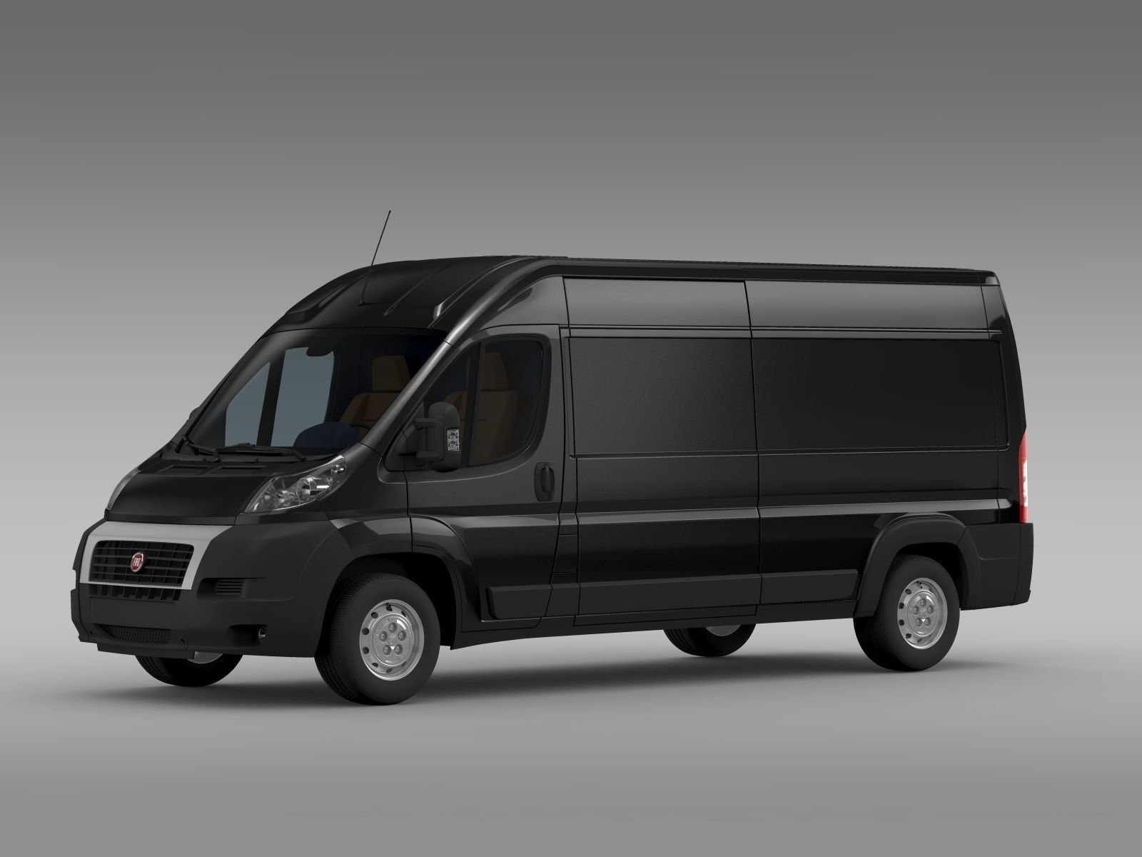 fiat ducato maxi van l3h2 2006 2014 3d model max obj 3ds fbx c4d lwo lw lws. Black Bedroom Furniture Sets. Home Design Ideas