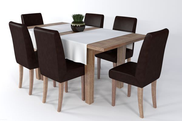 Dining table set gc01 3d model fbx ma mb blend for New model dining table