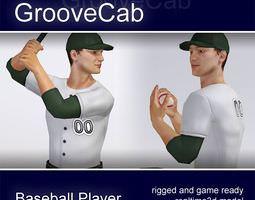 Baseball Player Male rigged 3D Model