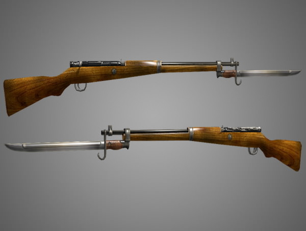 Arisaka Type 99 Rifle Low Poly