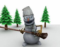 3D asset Evil Snowman for Unity