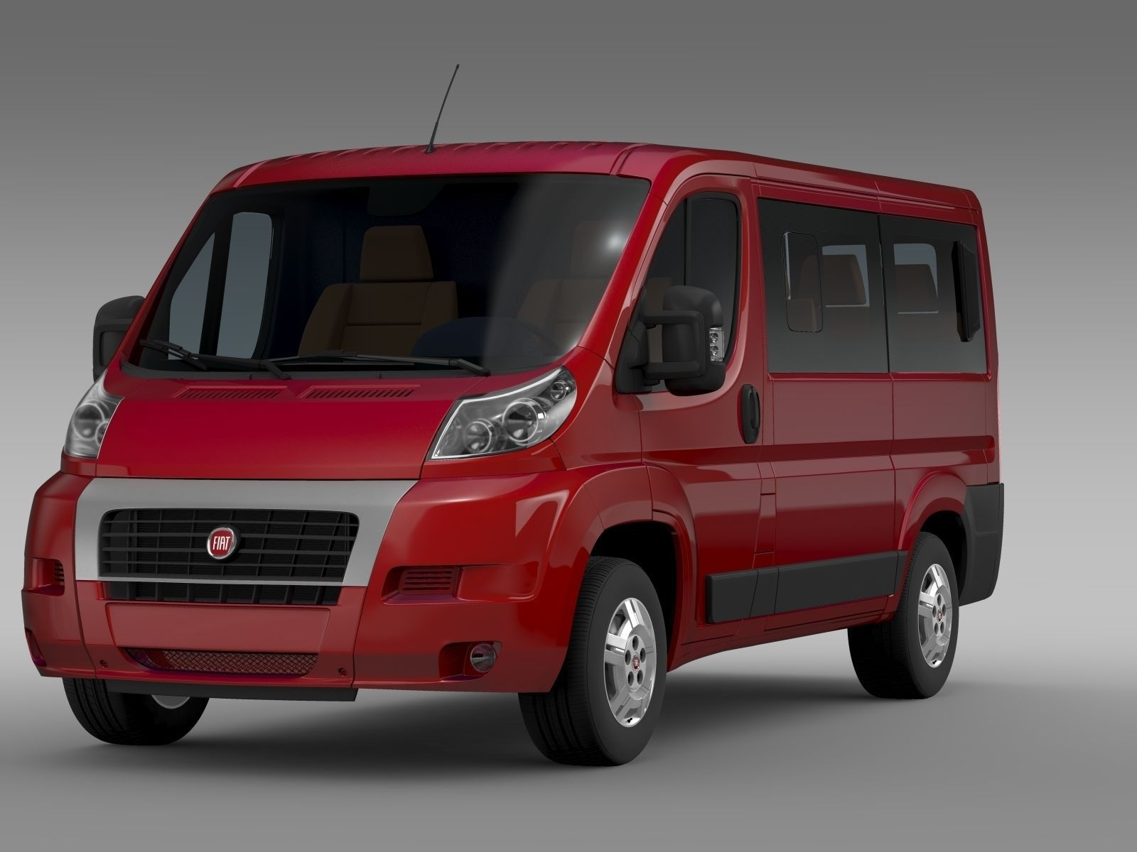 fiat ducato mini bus l1h1 2006 2014 3d model max obj 3ds fbx c4d lwo lw lws. Black Bedroom Furniture Sets. Home Design Ideas