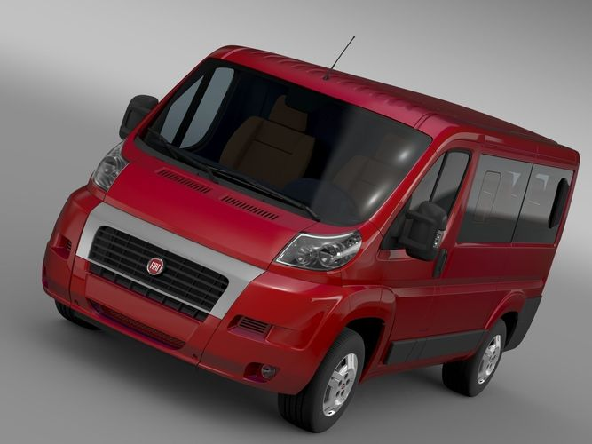 Fiat Ducato Mini Bus L1H1 2006-20143D model