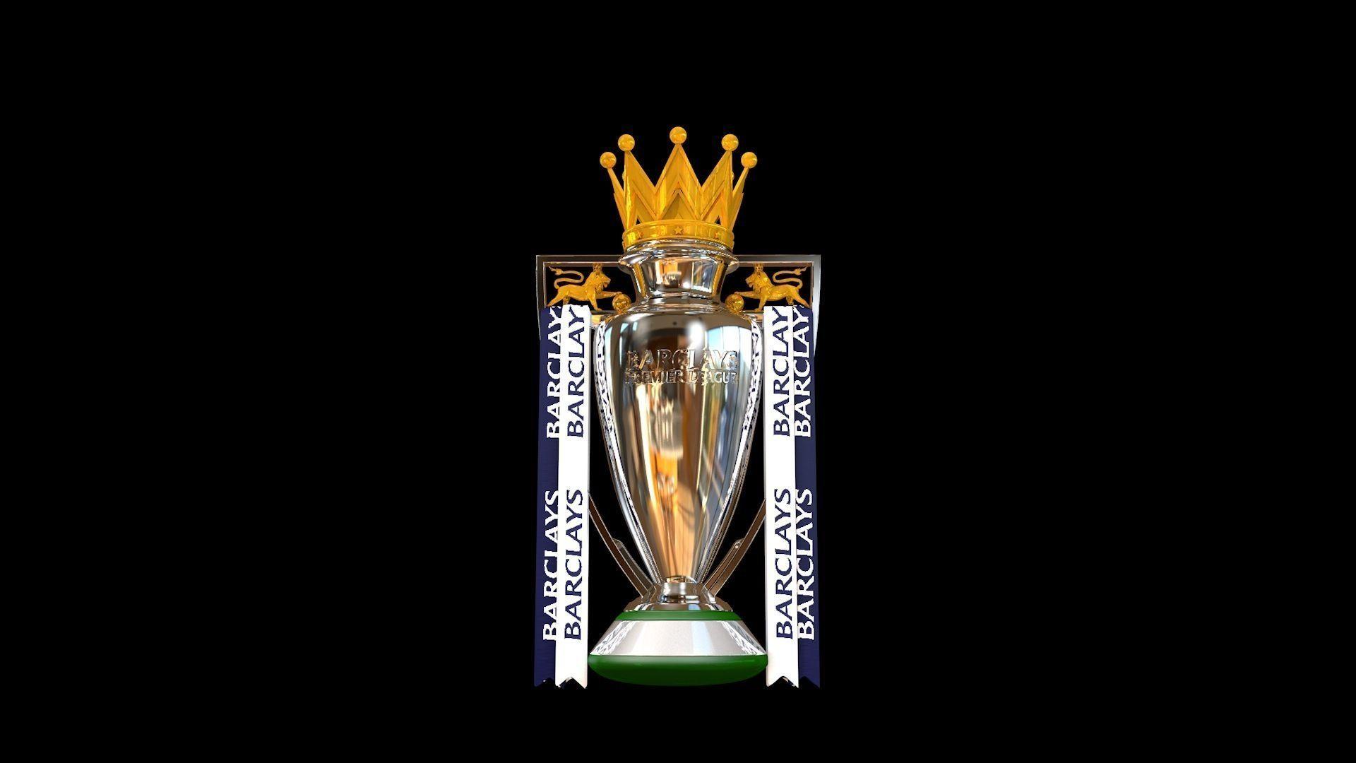 English Premier League Trophy 2015 2016 3d Model Animated C4d 1
