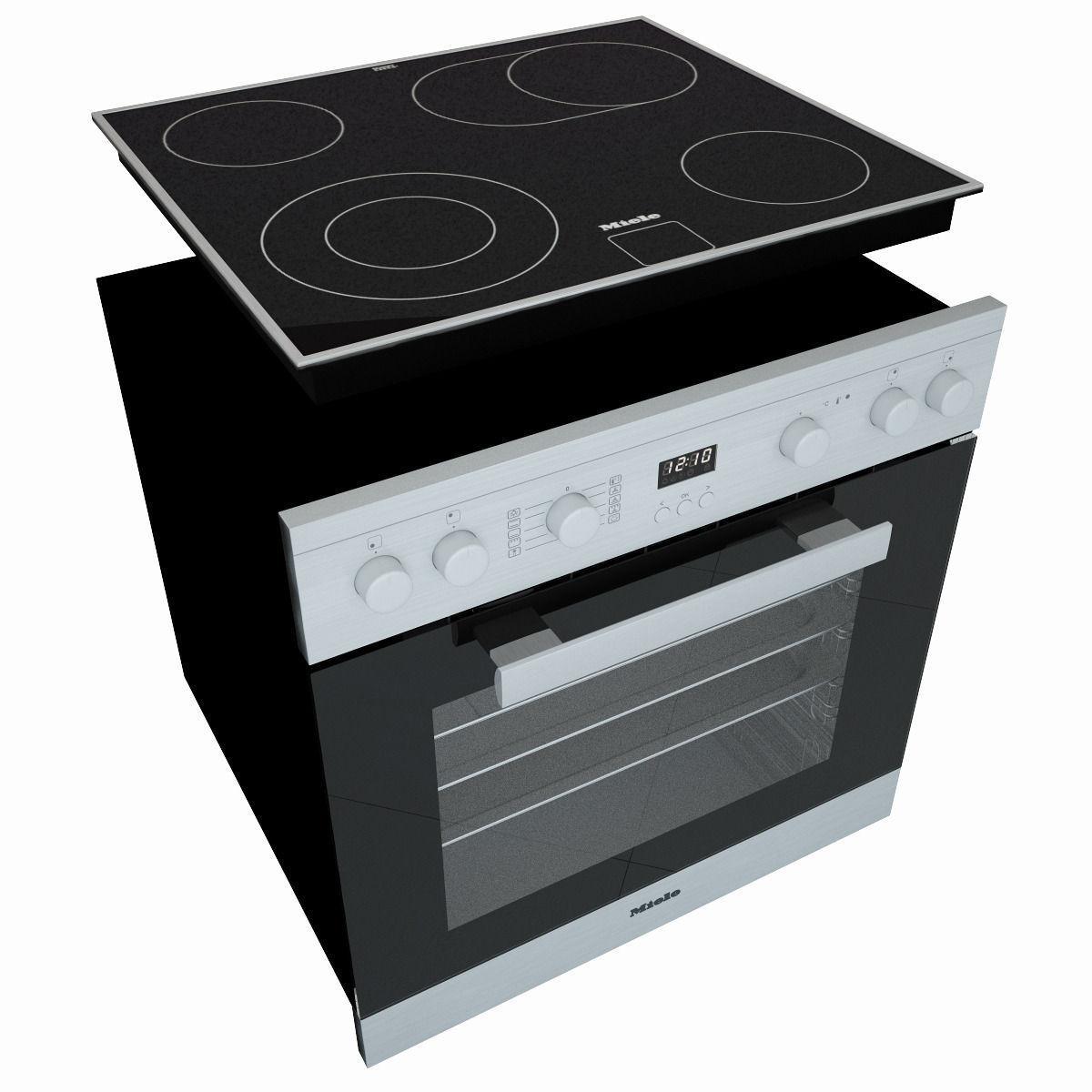 Merveilleux ... Miele H2261 Oven Miele Km6012 Electric Cooking Panel 3d Model Max Obj  Mtl Fbx 3 ...