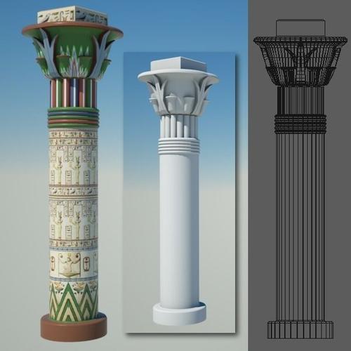 Egyptian Column 53D model