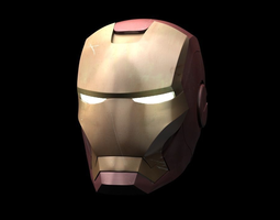 3D model Iron Man helmet