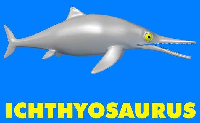 Ichthyosaurus 3d Model Max Obj 3ds Lwo Lw Lws Ma