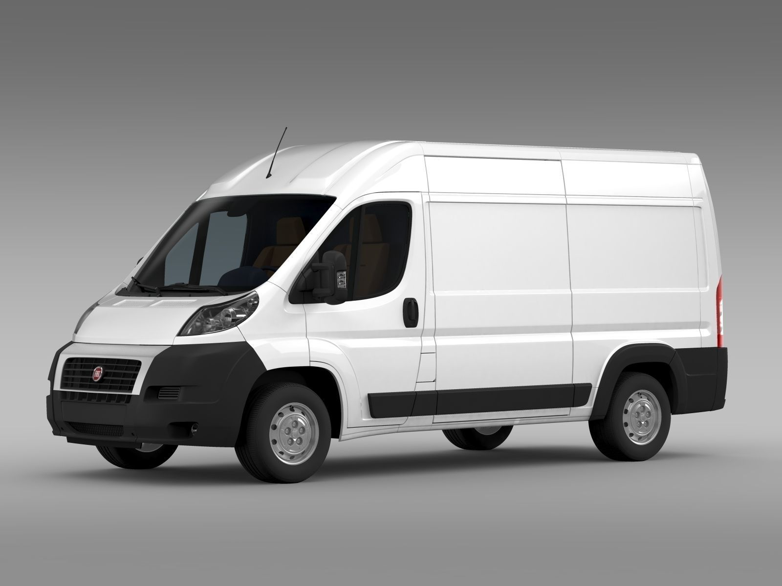 fiat ducato van l2h2 2006 2014 3d model max obj 3ds fbx. Black Bedroom Furniture Sets. Home Design Ideas