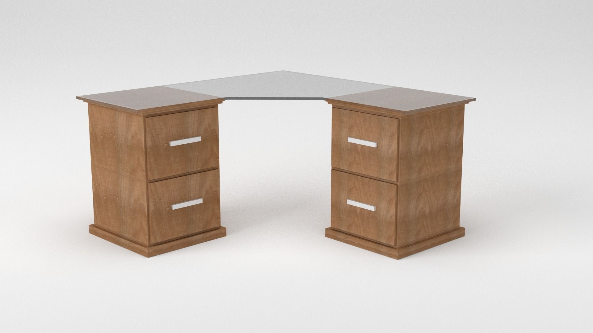 Simple Office Table Brown Plywood Veneered Double Desk Simple Office Table Nyke Co