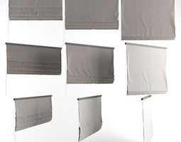 3D model Roman blinds grey