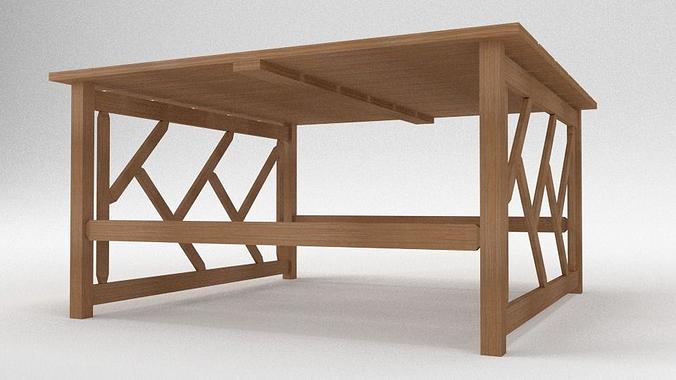 tahawus garden table 3d model obj blend 3
