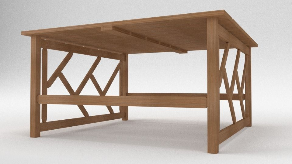 tahawus garden table 3d model obj blend 3