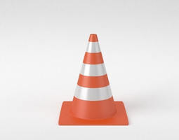 3d street traffic cone
