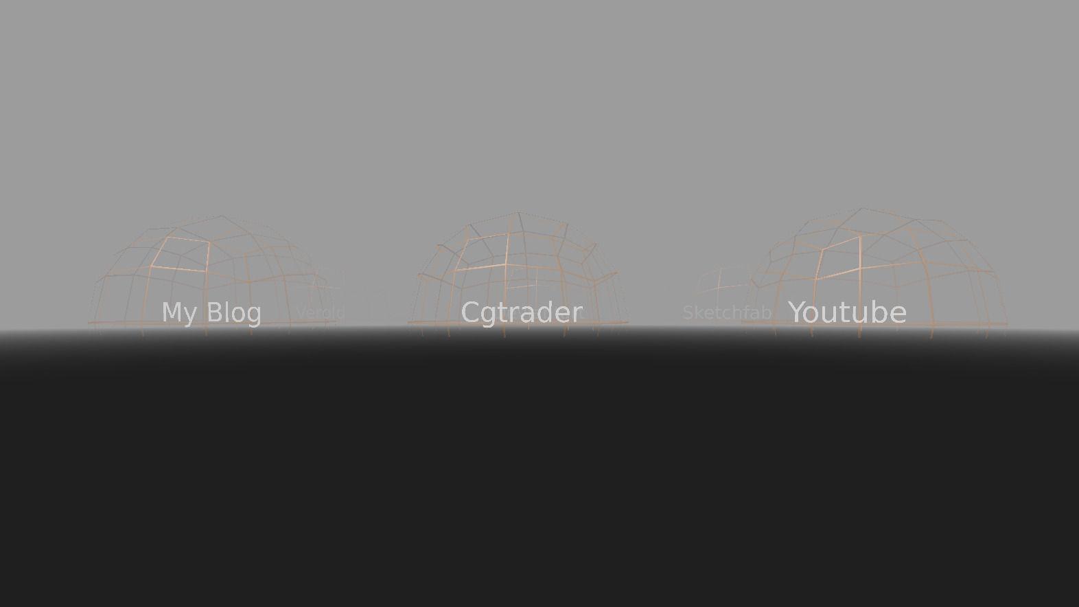 Weblink Opener Template Blender Game Engine 3d Model