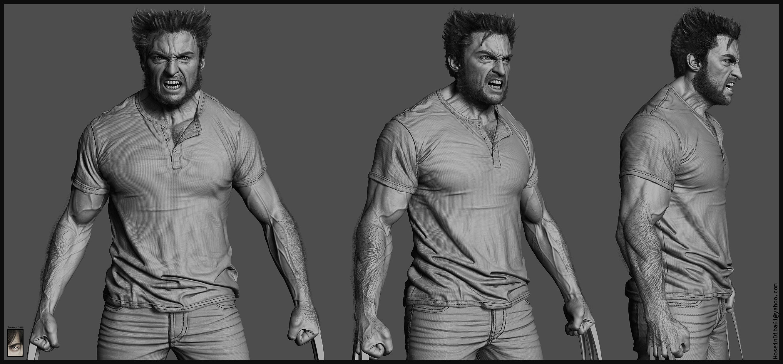 Wolverine 3d Model 3d Model Ztl
