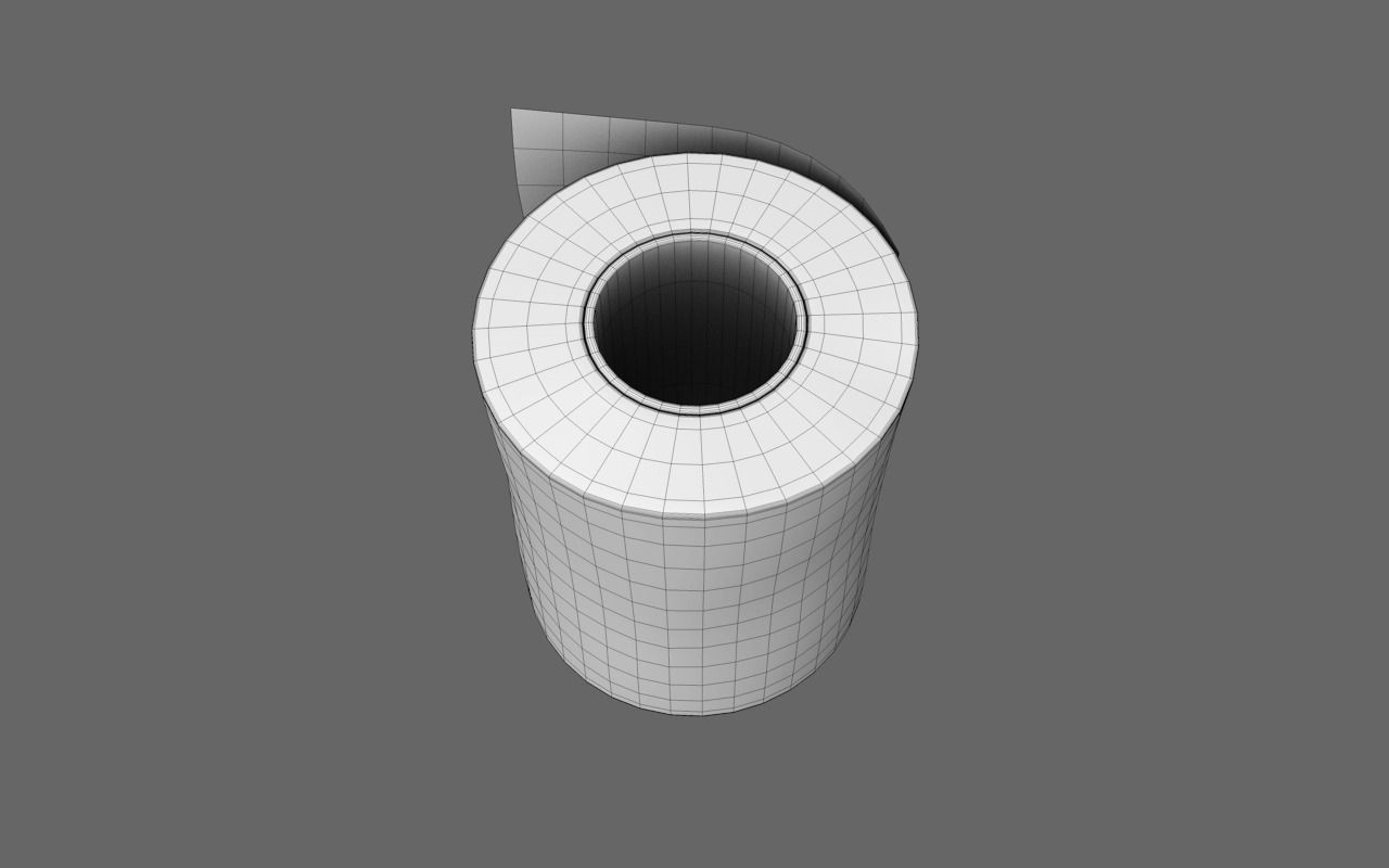 Wc paper toilette klosett free 3d model obj - Wc model ...