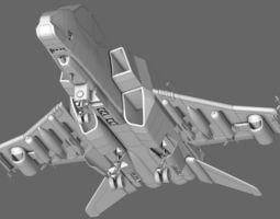 Sci-Fi Starfighter 3D Model