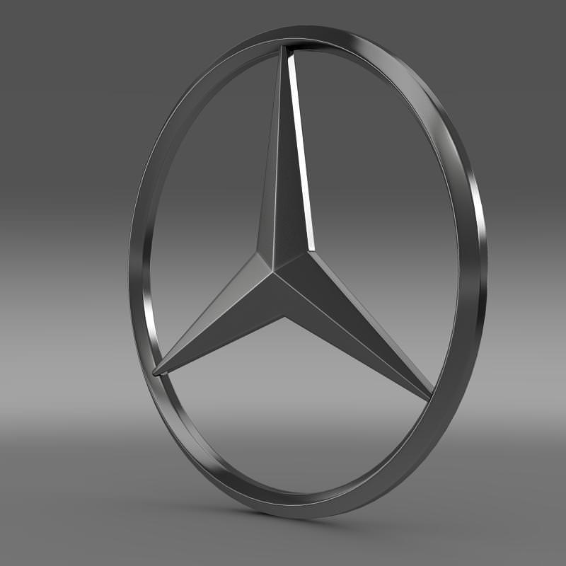 mercedes logo 3d model max obj 3ds fbx c4d lwo lw