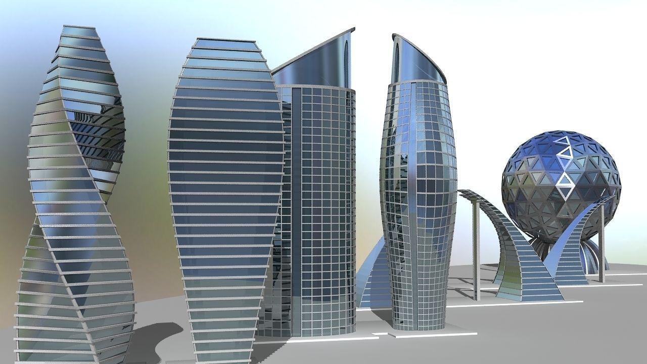 Building future 3d model max obj 3ds fbx ma mb dae for Construction 3d