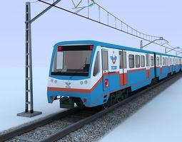 suburban train 3d