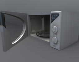 Microwave low-poly 3D model